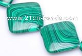 CMA10 15.5 inches 31mm rhombus imitate malachite beads wholesale