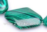 CMA11 23*30mm rhombus imitate malachite gemstone beads Wholesale