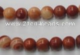 CMA202 15.5 inches 8mm round red malachite beads wholesale