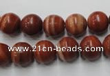 CMA204 15.5 inches 12mm round red malachite beads wholesale