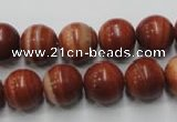 CMA205 15.5 inches 14mm round red malachite beads wholesale