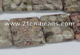 CMB22 15.5 inches 20*20mm square natural medical stone beads