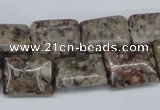 CMB26 15.5 inches 12*16mm rectangle natural medical stone beads