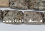 CMB27 15.5 inches 18*25mm rectangle natural medical stone beads