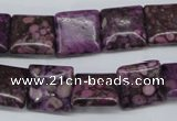 CMB37 15.5 inches 14*14mm square dyed natural medical stone beads