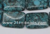 CMB58 15.5 inches 18*25mm rectangle dyed natural medical stone beads