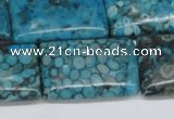 CMB59 15.5 inches 20*30mm rectangle dyed natural medical stone beads