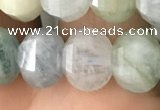 CME203 15.5 inches 7*9mm - 8*10mm pumpkin aquamarine beads