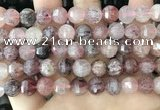CME253 15.5 inches 10*11mm - 11*12mm pumpkin strawberry quartz beads