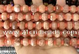 CME304 15.5 inches 8*11mm - 9*12mm pumpkin moonstone beads
