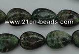 CME31 15.5 inches 12*16mm flat teardrop emerald gemstone beads