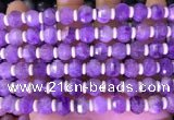 CME314 15.5 inches 8*10mm pumpkin lavender amethyst beads