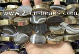 CME516 12 inches 18*28mm - 20*30mm oval banded agate beads