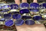 CME518 12 inches 18*28mm - 20*30mm oval banded agate beads
