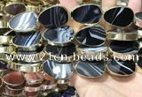 CME531 12 inches 18*28mm - 20*30mm flat teardrop banded agate beads