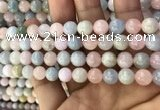CMG331 15.5 inches 8mm round morganite beads wholesale