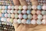 CMG338 15.5 inches 10mm round natural morganite beads