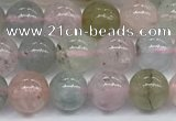 CMG391 15.5 inches 6mm round morganite gemstone beads