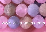 CMG397 15.5 inches 5mm faceted round morganite beads wholesale
