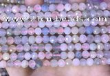 CMG415 15.5 inches 6mm faceted round morganite gemstone beads