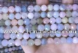 CMG416 15.5 inches 8mm faceted round morganite gemstone beads