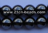 CMH11 16 inches 12mm round magnetic hematite beads Wholesale
