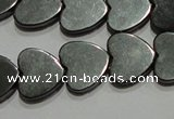 CMH175 15.5 inches 10*10mm heart magnetic hematite beads wholesale