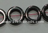 CMH179 15.5 inches 12mm donut magnetic hematite beads wholesale