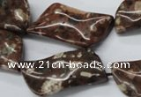 CMI05 15.5 inches 20*40mm wavy marquise mica quartz beads wholesale