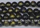 CMJ1005 15.5 inches 4mm round Mashan jade beads wholesale