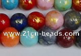 CMJ1011 15.5 inches 6mm round mixed Mashan jade beads wholesale