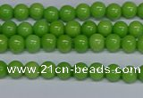 CMJ113 15.5 inches 4mm round Mashan jade beads wholesale