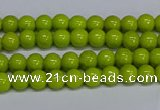 CMJ218 15.5 inches 4mm round Mashan jade beads wholesale