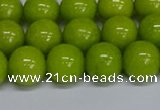 CMJ271 15.5 inches 12mm round Mashan jade beads wholesale