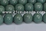 CMJ284 15.5 inches 10mm round Mashan jade beads wholesale