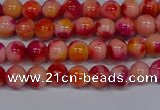 CMJ400 15.5 inches 4mm round rainbow jade beads wholesale