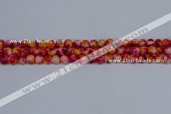 CMJ402 15.5 inches 8mm round rainbow jade beads wholesale