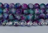 CMJ407 15.5 inches 4mm round rainbow jade beads wholesale