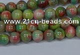 CMJ422 15.5 inches 6mm round rainbow jade beads wholesale