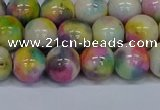 CMJ438 15.5 inches 10mm round rainbow jade beads wholesale