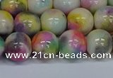 CMJ439 15.5 inches 12mm round rainbow jade beads wholesale