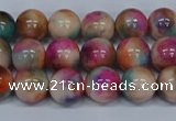 CMJ444 15.5 inches 8mm round rainbow jade beads wholesale