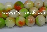 CMJ452 15.5 inches 10mm round rainbow jade beads wholesale