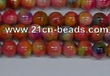 CMJ471 15.5 inches 6mm round rainbow jade beads wholesale