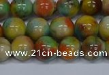 CMJ502 15.5 inches 12mm round rainbow jade beads wholesale