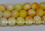 CMJ507 15.5 inches 8mm round rainbow jade beads wholesale
