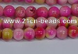 CMJ513 15.5 inches 6mm round rainbow jade beads wholesale