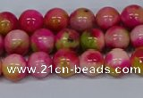 CMJ514 15.5 inches 8mm round rainbow jade beads wholesale
