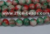 CMJ534 15.5 inches 6mm round rainbow jade beads wholesale