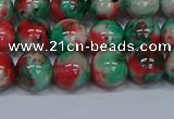 CMJ536 15.5 inches 10mm round rainbow jade beads wholesale